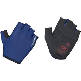 GripGrab Solara Lightweight Padded Tan Through Halve Vinger Handschoenen, blauw/zwart